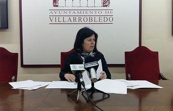 Trinidad Moyano, portavoz del grupo socialista en el Ayuntamiento de Villarrobledo.