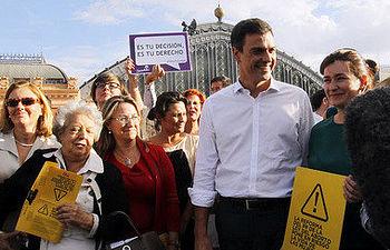Pedro Sánchez esta tarde en Atocha