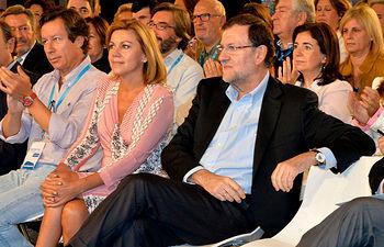 María Dolores de Cospedal junto a Mariano Rajoy en la Clausura de la XXI Interparlamentaria del Partido Popular.