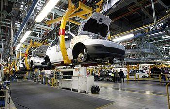 Industria - Fábrica de coches. Imagen de archivo.