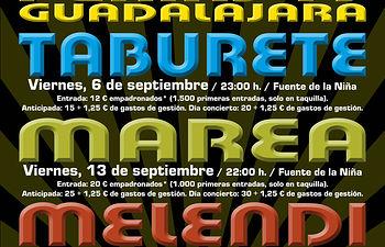 Cartel de los conciertos de ferias en la Fuente de la Niña.