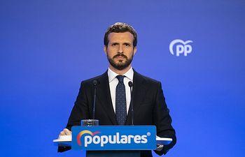 El presidente del PP, Pablo Casado. Foto: Europa Press 2020