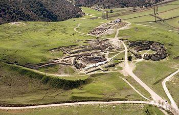 Imagen aérea del Parque Arqueológico de Segóbriga, en la provincia de Cuenca.