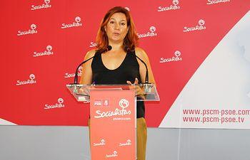 Pilar Espadas, secretaria de Comunicación del PSOE provincial de Ciudad Real y Portavoz.