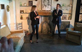 Jiménez y Porter en la exposición de Toledo