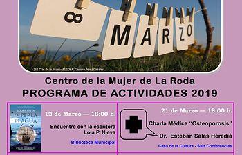 Cartel 8 Marzo 2019 en La Roda.