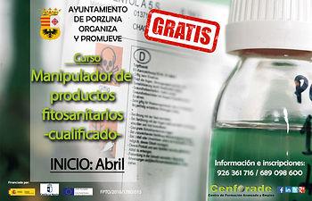 Cartel curso Manipulador de productos fitosanitarios