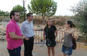 El presidente de la Diputación visitó los pueblos afectados por el granizo