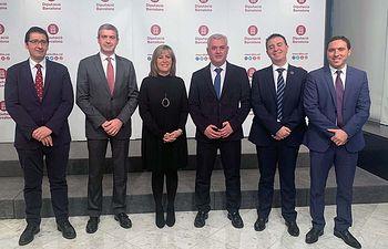 Reunión de la Comisión de Diputaciones que se ha celebrado hoy en Barcelona.