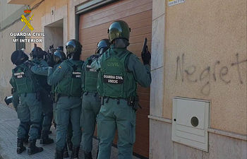"Operación ""Fabrilia"". Foto: Guardia Civil."