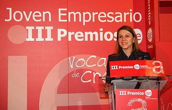 Presidenta Cospedal entrega los III Premios Joven Empresario de AJE-1. Foto: JCCM.
