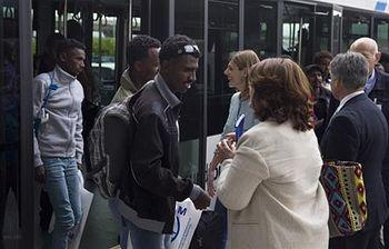 Llegan 22 refugiados procedentes de Italia para su reubicación en España (Foto: Ministerio del Interior)