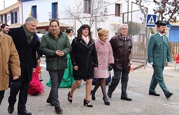 Paco Núñez en Puerto Lápice, Ciudad Real, con motivo de la Fiesta de San Antón. Foto: PP CLM.
