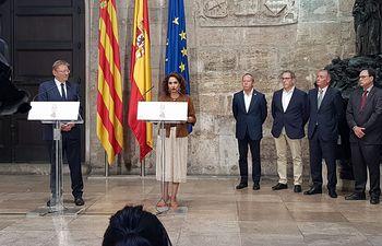 La ministra de Hacienda en funciones, María Jesús Montero, en Valencia.
