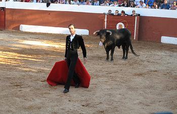 """Paúl Abadía """"Serranito"""", en el Festival taurino organizado por el ganadero albaceteño Samuel Flores en Povedilla (Albacete)."""
