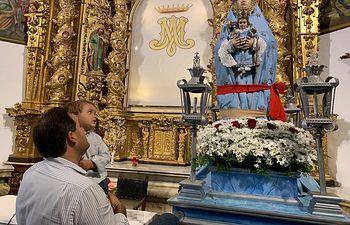 Paco Núñez en la  romería Virgen de Belén.