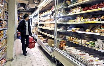Interior supermercado