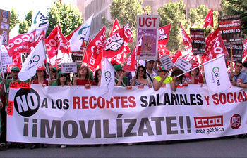 Huelga de funcionarios en Albacete capital.