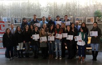 Estudiantes de ADE en el Vivero de Empresas de Toledo.