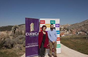 Mª Ángeles García Jiménez (Secretaria General de Podemos Cuenca) y José Antonio Peñaranda (Coportavoz de Equo en Castilla-La Mancha)