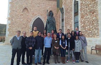 Visita de los estudiantes a la empresa.