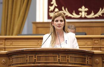 Agudo, en el Pleno de las Cortes regionales