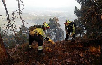 Incendio en Yeste. Foto: JCCM