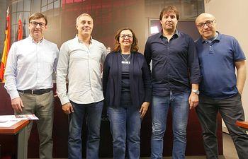 Miembros del Grupo Provincial Ganemos-Izquierda Unida en la Diputación de Albacete