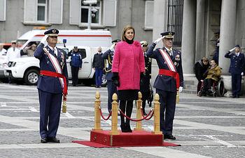 La ministra de Defensa preside los actos de la Patrona del Ejército del Aire. Foto: Ricardo Pérez Iruela/MDE