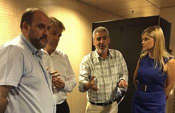 El Vicepresidente del Gobierno Regional visita el Centro de Proceso de Datos (CPD). Foto: JCCM.
