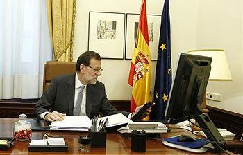 Mariano Rajoy en su despacho (Foto: Archivo)