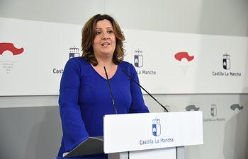 Rueda de prensa de la reunión con entidades financieras de la región. (Fotos: José Ramón Márquez // JCCM).