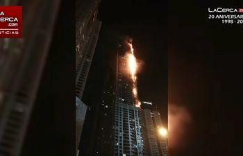 Incendio en Dubai - 03-08-17
