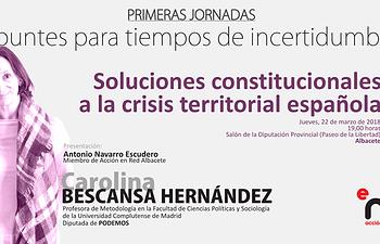 """Soluciones constitucionales a la crisis territorial española"""
