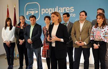 Reunión de Cospedal con los concejales del Grupo Popular de Albacete.