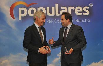 Acto de homenaje a todos los ediles del PP en Ciudad Real junto a Suárez Illana