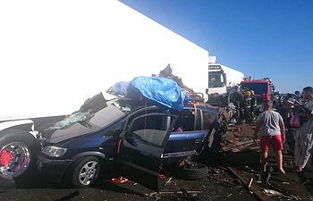 Accidente en la A4. Manzanares. Foto de José Antonio Romero Gómez-Pastrana