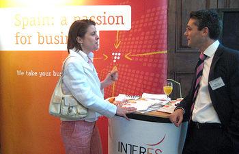 Olivier Ponce, director de la Agencia de Captación de Inversiones de Castilla-La Mancha, durante su participación en Londres en una conferencia sobre los nuevos retos del outsourcing.