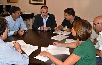 Foto PSOE AB. Reunion con UGT