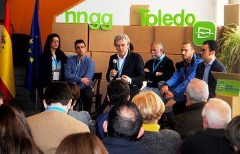 Leandro Estaban durante la inauguración I Escuela de Formación de Nuevas Generaciones de Toledo