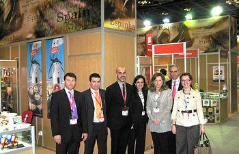 Empresas de Castilla-La Mancha exponen sus productos en la Feria agroalimentaria de Dubai.