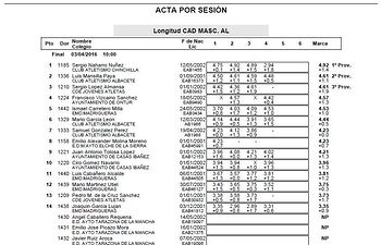 Campeonato Provincial de Atletismo en edad escolar . 3ª Jornada Final Infantil, Cadete y Juvenill