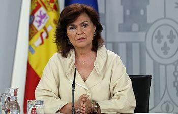 Carmen Calvo, vicepresidenta del Gobierno. Archivo.