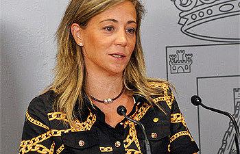 Lola Merino en rueda de prensa