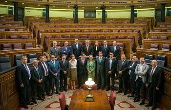 La presidenta del Congreso de los Diputados ha recibido al Comité Ejecutivo de FEDA con motivo del 40 Aniversario.