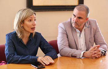 María Dolores Arteaga reunión en Almansa.