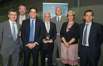 Echániz en los premios Top 20. Foto: JCCM.