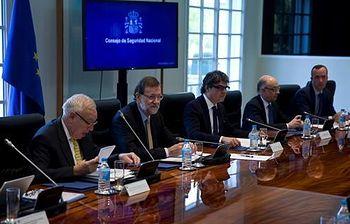 Mariano Rajoy presidiendo el Consejo de Seguridad Nacional (Foto: Archivo)