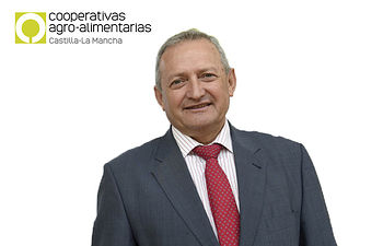 Ángel Villafranca Lara, presidente de Cooperativas Agro-alimentarias Castilla-La Mancha. Foto: ALFONSO DURAN