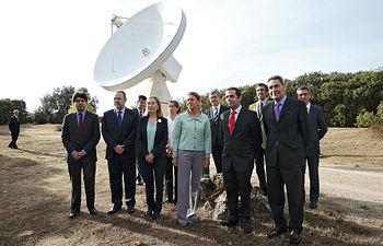 Cospedal inaugura el radiotelescopio del Observatorio de Yebes. Foto: JCCM.